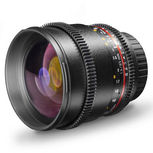 Tele-Objektiv Walimex Pro 85/1,5 VDSLR pour Olympus f/1 - 1.5 85 mm
