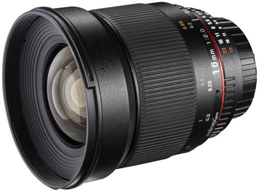 Weitwinkel-Objektiv Walimex Pro 16/2,0 pour Pentax K f/1 - 2.0 16 mm