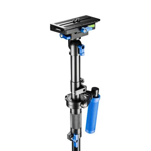 Gimbal mechanisch Walimex Pro Schwebestativ StabyPod M 80cm 1/4 Zoll Schwarz/Blau inkl. Tasche