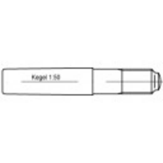 TOOLCRAFT 106170 Kegelstift (Ø x L) 8 mm x 75 mm Stahl 100 St.