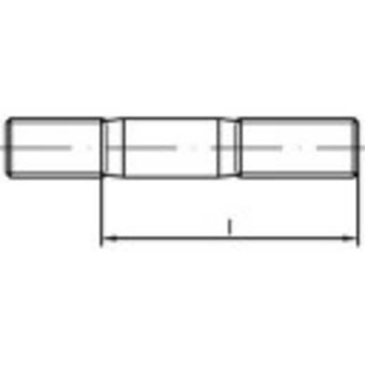 Stiftschrauben M8 40 mm DIN 835 Edelstahl A4 10 St. TOOLCRAFT 1061721
