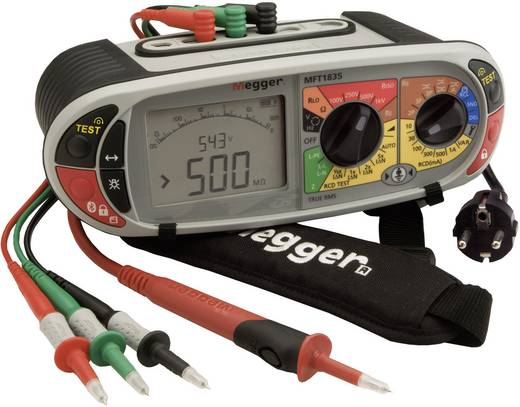 Megger MFT1835-SC-DE/NL/EN Installationstester Messungen nach DIN VDE 0100-600, DIN VDE 0105-100