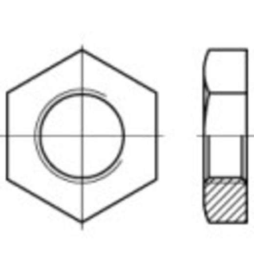 TOOLCRAFT 106622 Rohrmuttern 1/4 Zoll DIN 431 Stahl verzinkt 50 St.