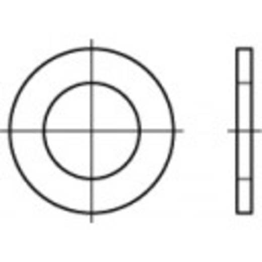 TOOLCRAFT 106711 Unterlegscheiben Innen-Durchmesser: 21 mm DIN 433 Stahl galvanisch verzinkt 100 St.