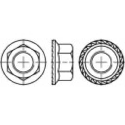 Sechskant-Sperrzahnmuttern mit Flansch M12 DIN 6923 Edelstahl A4 100 St. TOOLCRAFT 1067606