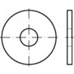 Podložka plochá TOOLCRAFT 107022, vnitřní Ø: 24 mm, ocel, 50 ks