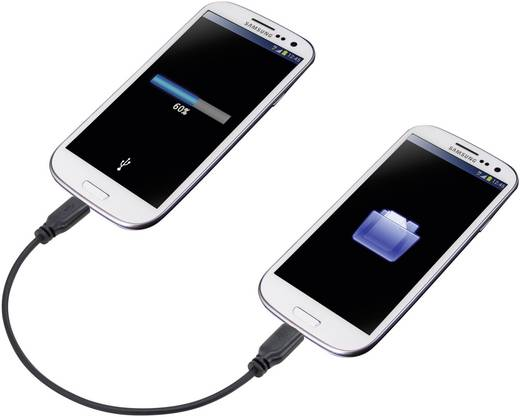 renkforce SuperSoft OTG-Mirror Micro-USB Kabel 0,15 m