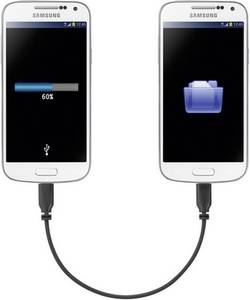 MicroUSb kabel s OTG mirror Renkforce SuperSoft, 0, 15 m
