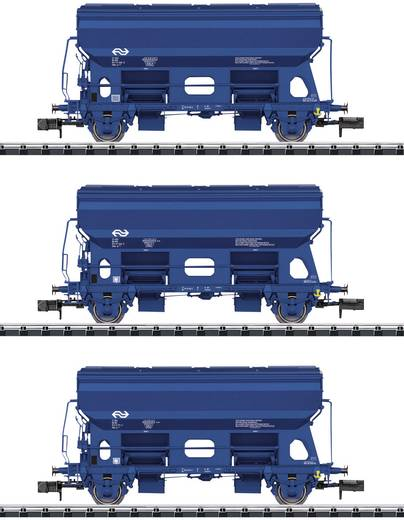 MiniTrix T15089 N 3er-Set Seitenentladewagen der NS