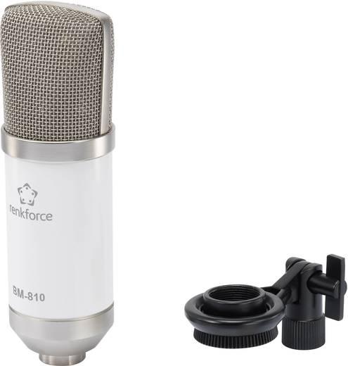 Studiomikrofon Renkforce BM-810 W Übertragungsart:Kabelgebunden inkl. Klammer