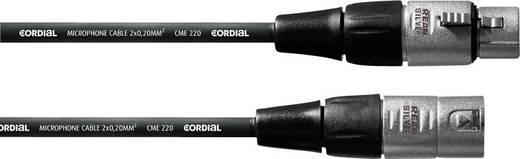 XLR Verbindungskabel [1x XLR-Buchse - 1x XLR-Stecker] 1 m Schwarz Cordial CFM1FM