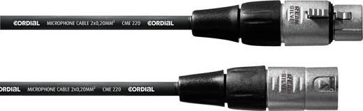 Cordial CFM 7,5 FM XLR Verbindungskabel [1x XLR-Buchse - 1x XLR-Stecker] 7.50 m Schwarz