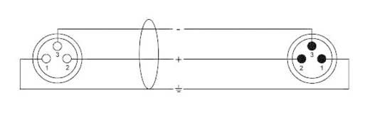 XLR Verbindungskabel [1x XLR-Buchse - 1x XLR-Stecker] 10 m Schwarz Cordial CFM10FM