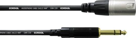 XLR Adapterkabel [1x XLR-Stecker - 1x Klinkenstecker 6.35 mm] 1.5 m Schwarz Cordial CFM1,5MV