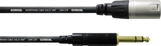 XLR Adapterkabel [1x XLR-Stecker - 1x Klinkenstecker 6.35 mm] 3 m Schwarz Cordial CFM3MV
