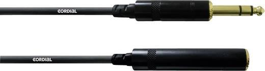 Audio Verlängerungskabel [1x Klinkenstecker 6.35 mm - 1x Klinkenbuchse 6.35 mm] 10 m Schwarz Cordial