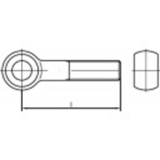 TOOLCRAFT 107345 Augenschrauben M20 80 mm DIN 444 Stahl galvanisch verzinkt 10 St.