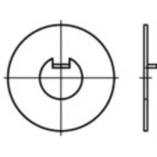 Unterlegscheiben mit Innennase Innen-Durchmesser: 10 mm DIN 462 Stahl 100 St. TOOLCRAFT 107401