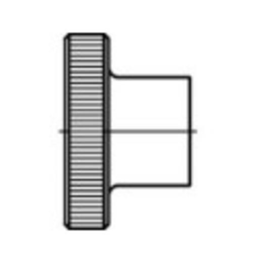 Rändelmuttern M12 DIN 466 Stahl galvanisch verzinkt 25 St. TOOLCRAFT 107580