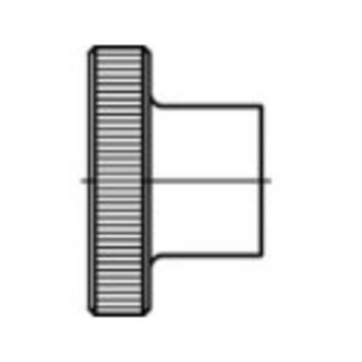 Rändelmuttern M4 DIN 466 Stahl 100 St. TOOLCRAFT 107568