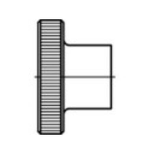 Rändelmuttern M8 DIN 466 Stahl 50 St. TOOLCRAFT 107571