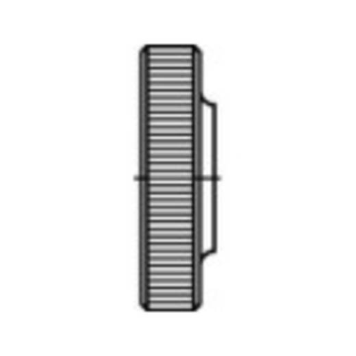 Rändelmuttern M6 DIN 467 Stahl galvanisch verzinkt 100 St. TOOLCRAFT 107589