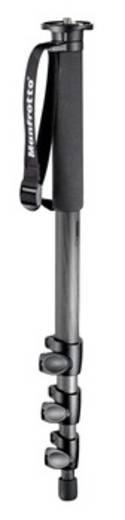 Einbeinstativ Manfrotto 694CX 1/4 Zoll, 3/8 Zoll Arbeitshöhe=54 - 165 cm Schwarz inkl. Handschlaufe