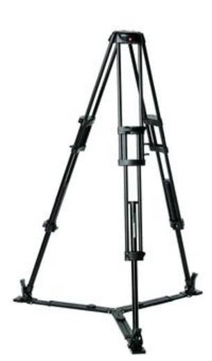 Dreibeinstativ Manfrotto Pro Video mit Bodenspinne Arbeitshöhe=32.5 - 158.5 cm Schwarz