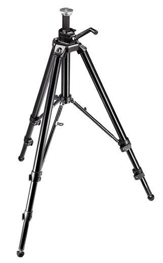 Dreibeinstativ Manfrotto Pro Digital mit Kurbelsäule 3/8 Zoll Arbeitshöhe=43 - 188 cm Schwarz Wasserwaage
