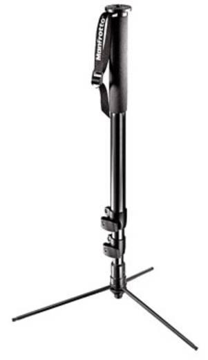 Einbeinstativ Manfrotto Profi mit Standfüssen 1/4 Zoll, 3/8 Zoll Arbeitshöhe=69 - 172 cm Schwarz inkl. Handschlaufe