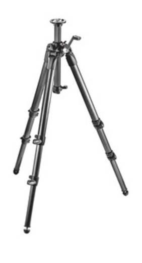 Dreibeinstativ Manfrotto MT057C3-G 3/8 Zoll Arbeitshöhe=23 - 157 cm Schwarz Wasserwaage