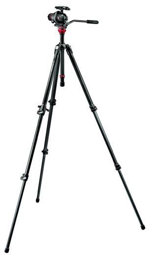 Dreibeinstativ Manfrotto 055 statief kit grijs 755 CX 3-M Arbeitshöhe=60 - 178 cm Schwarz