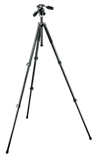 Dreibeinstativ Manfrotto MK294A3-D3RC2 Arbeitshöhe=52 - 181 cm Schwarz