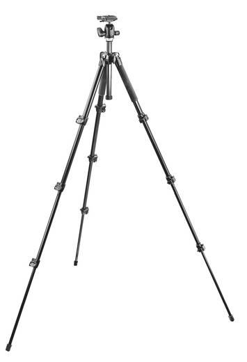 Dreibeinstativ Manfrotto MK293A4-A0RC2 3/8 Zoll Arbeitshöhe=38 - 148 cm Schwarz Kugelkopf