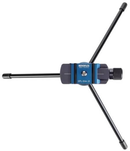 Tischstativ Novoflex Microstativ-Set Q 1/4 Zoll Arbeitshöhe=7 cm (max) Schwarz/Blau Kugelkopf