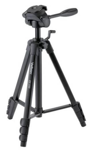 Dreibeinstativ Velbon V30136 Arbeitshöhe=156 cm (max) Schwarz inkl. Tasche