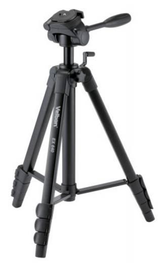 Dreibeinstativ Velbon EX-640 Arbeitshöhe=142 - 170 cm Schwarz inkl. Tasche