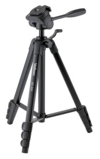 Dreibeinstativ Velbon V10170 Arbeitshöhe=127 - 153 cm Schwarz inkl. Tasche