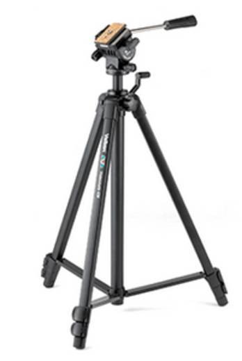 Dreibeinstativ Velbon Videomate 438 Arbeitshöhe=59 - 154 cm Schwarz Wasserwaage