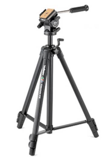 Dreibeinstativ Velbon V36022 Arbeitshöhe=61 - 161 cm Schwarz Wasserwaage