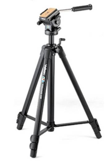 Dreibeinstativ Velbon Videomate 638 Arbeitshöhe=67 - 171 cm Schwarz Wasserwaage