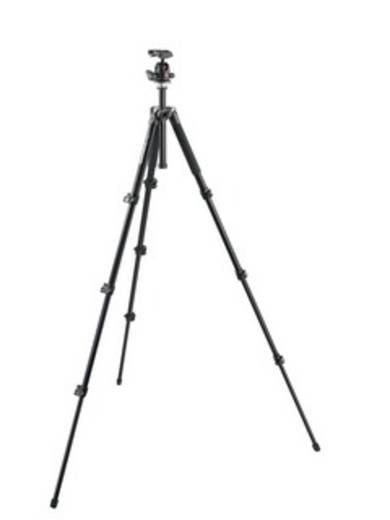 Dreibeinstativ Manfrotto MK294A4-A0RC2 Arbeitshöhe=161.5 cm (max) Schwarz