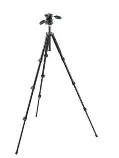 Dreibeinstativ Manfrotto MK294A4-D3RC2 Arbeitshöhe=163 cm (max) Schwarz