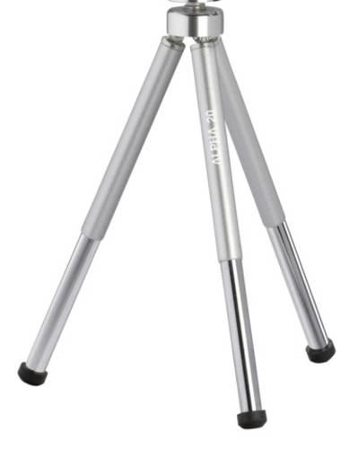 Dreibeinstativ Cullmann ALPHA 20 1/4 Zoll Arbeitshöhe=7 - 18 cm Silber