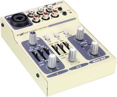 Mixer DJ Adam Hall LDLAX3USB Numero canali:3 Collegamento USB