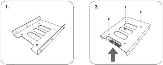 3.5 Zoll Festplatten-Einbaurahmen auf 2.5 Zoll Renkforce HDA-250M