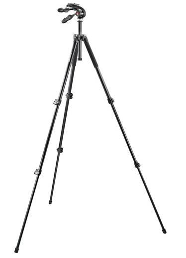 Dreibeinstativ Manfrotto Stativ Set 3/8 Zoll Arbeitshöhe=44 - 157 cm Schwarz