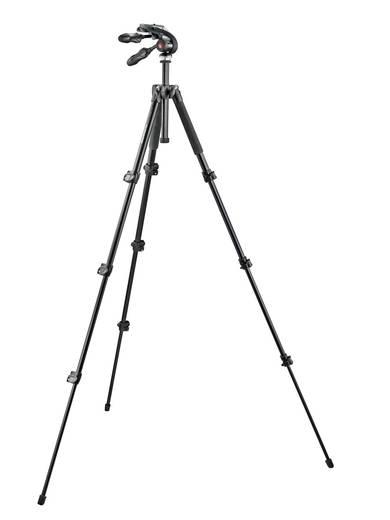 Dreibeinstativ Manfrotto MK293A4-D3Q2 Arbeitshöhe=38 - 146 cm Schwarz