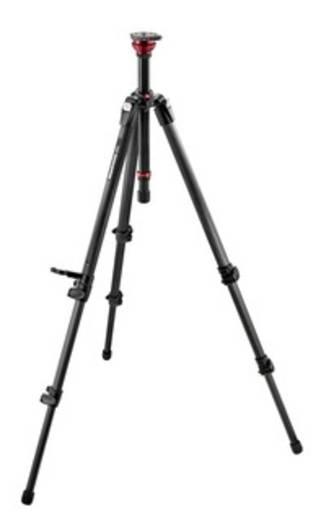 Dreibeinstativ Manfrotto MDEVE 3/8 Zoll Arbeitshöhe=46.5 - 164 cm Schwarz Wasserwaage