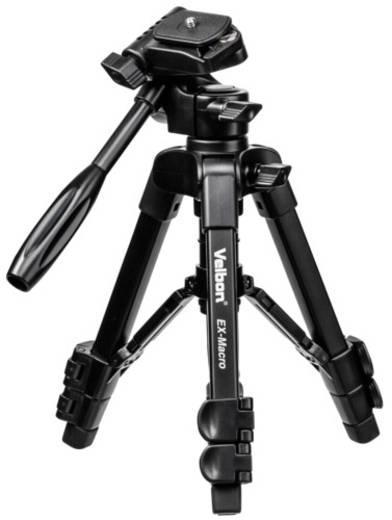 Dreibeinstativ Velbon EX-Macro Arbeitshöhe=20 - 56 cm Schwarz inkl. Tasche